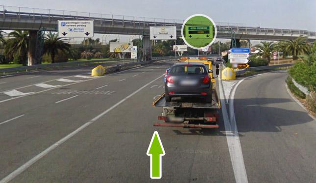 Come raggiungere il parcheggio all'aeroporto di fiumicino 2