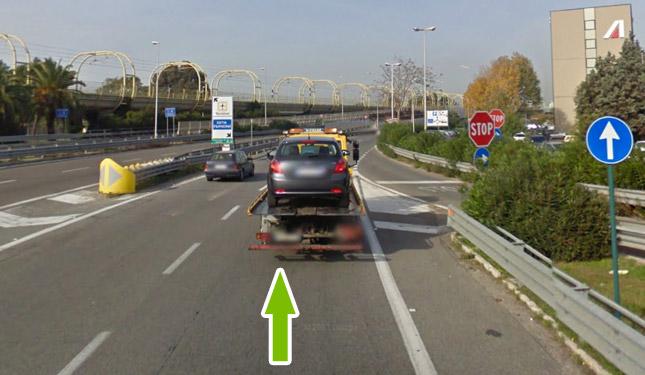 Come raggiungere il parcheggio all'aeroporto di fiumicino 3