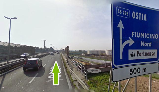 Come raggiungere il parcheggio all'aeroporto di fiumicino 9