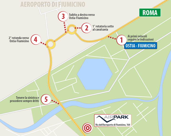 mappa indicazioni AirPark