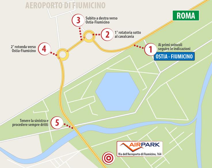 mappa indicazioni stradali airpark