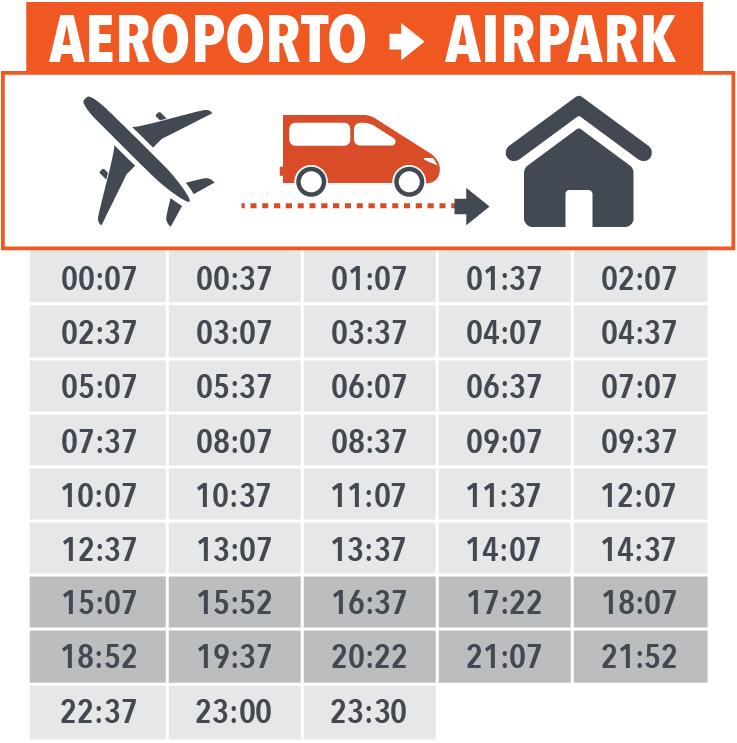orari navetta aeroporto airpark